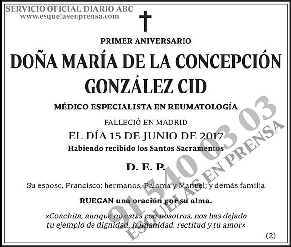 María de la Concepción González Cid